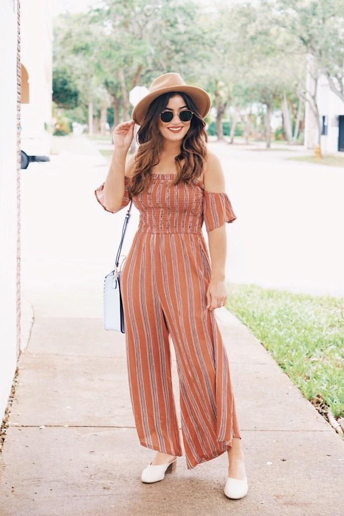 ceba921834d ... heeled mules windsorstore windsor that striped feeling culotte jumpsuit  target who what wear inca crossbody bag urban outfitters anna felt panama  hat ...