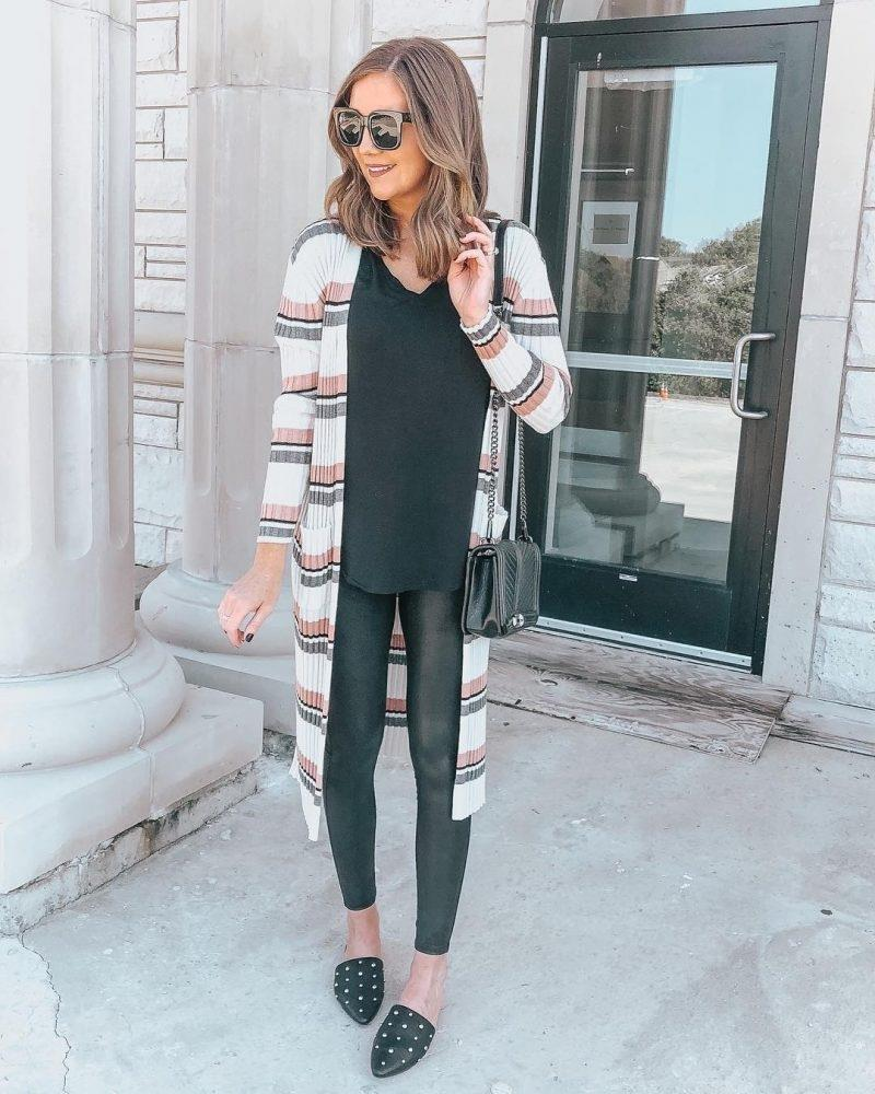 d0ab95d10f ... v neck tee for lovaru long cardigans striped fall oversized lightweight  open front sweater tops target day womens kari studded mules a new day153  black ...