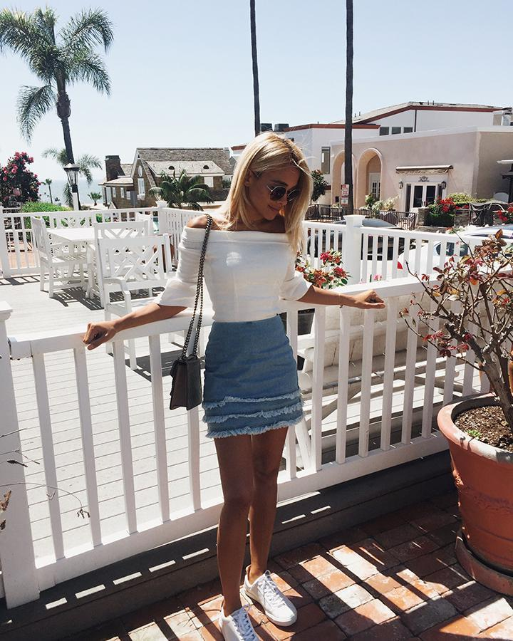 0b68f429e my blonde life forever 21 off the flounce tee lou and grey veja esplar  leather extra white pierre natural puxador revolve giselle a line ruffle  skirt in ...