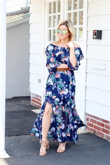 337871d24902 knotted chain nyandcompany and 7th avenue floral off the shoulder ...