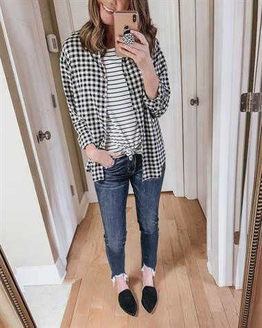 7d8e07d758153 wishes reality plaid long any blackwhite target day womens striped ...